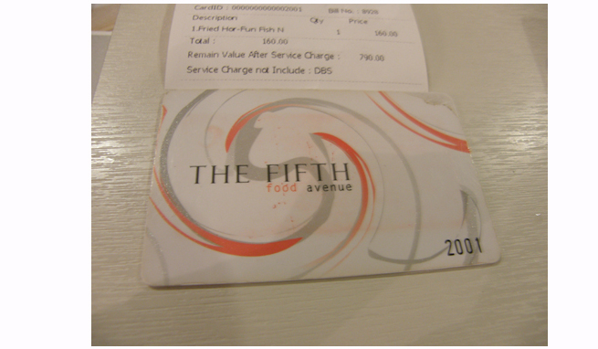 THE FIFTHのカード